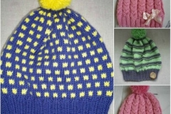 Meriinolõngast mütsid