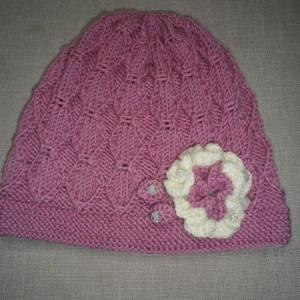 Lillega roosa meriino müts lõngapood