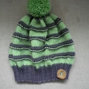 Roheline meriinolõngast müts